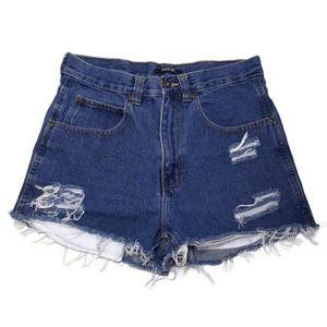 🍁 GEORGE High Waisted Distressed Denim Shorts